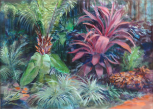 Sylvia Isaac -Lawrence's Tropical Garden -best Acrylic
